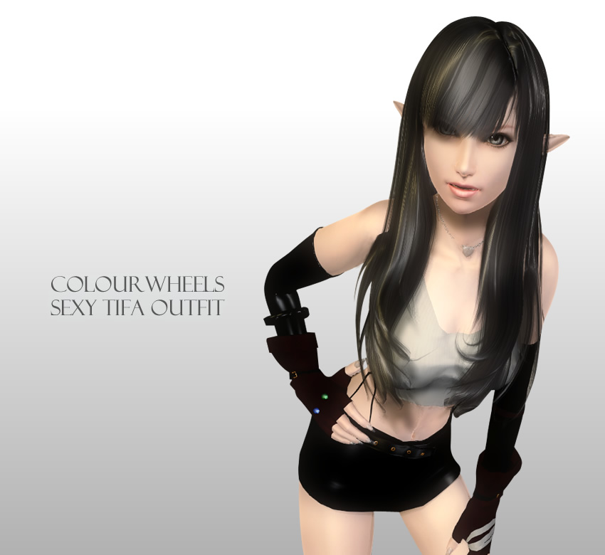 ColourWheels Sexy Tifa outfit HGEC