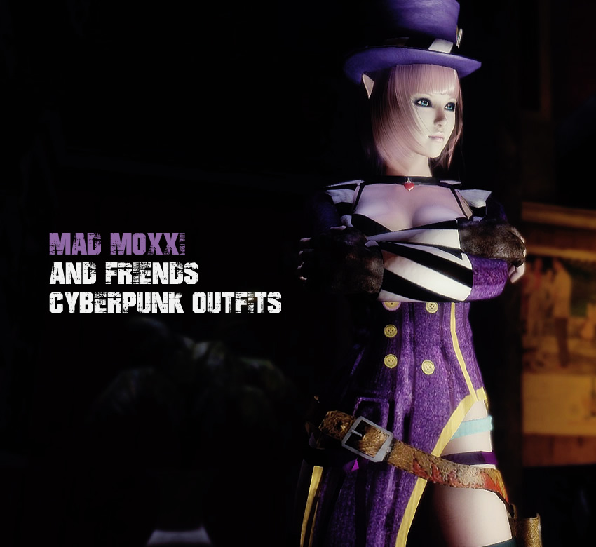 Mad Moxxi and Friends Cyberpunk Outfits