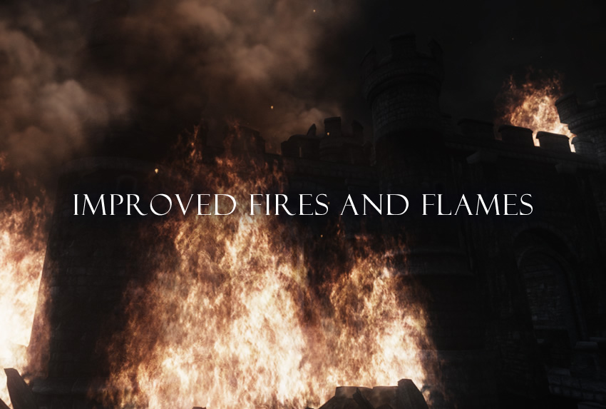 Improved Fires and Flames