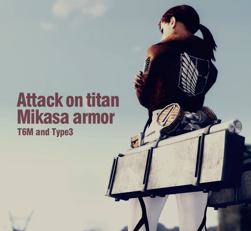 Attack on titan mikasa armor T6M and Type3