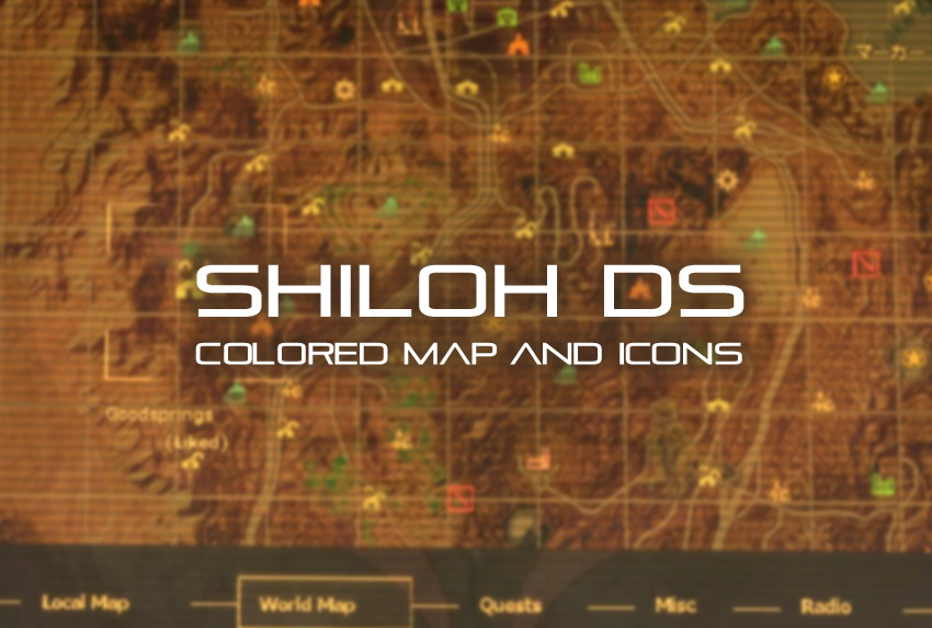Shiloh DS – Colored Map and Icons