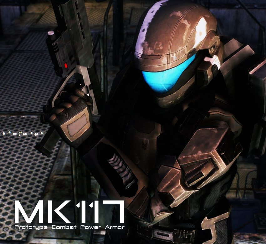 MK117 Prototype Combat Power Armor Voiced and Weapons