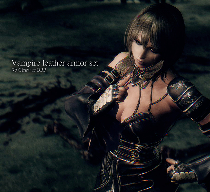 Vampire leather armor set 7b Cleavage BBP