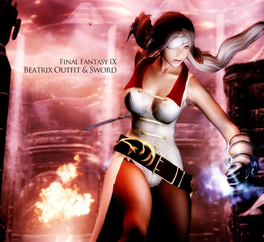 Final Fantasy IX Beatrix Outfit & Sword