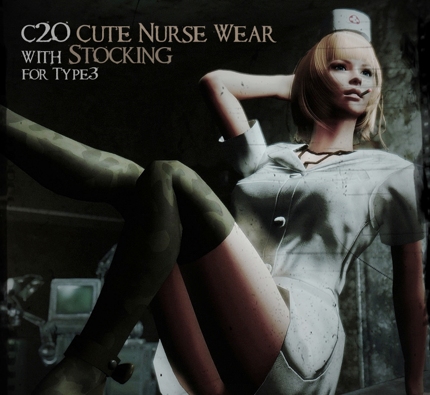 C2O Cute Nurse Wear with Stocking for Type3
