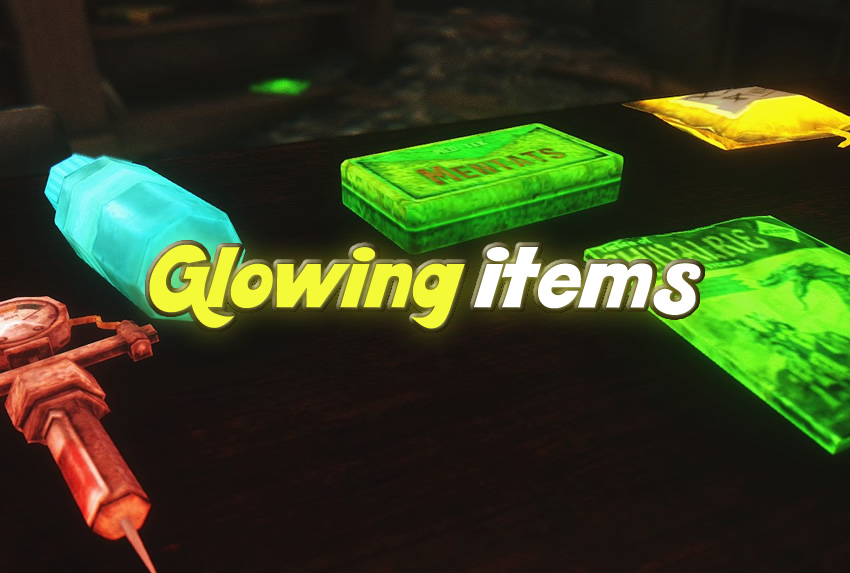 Glowing items