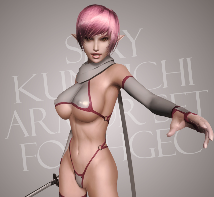 Sexy Kunoichi Armor Set for HGEC
