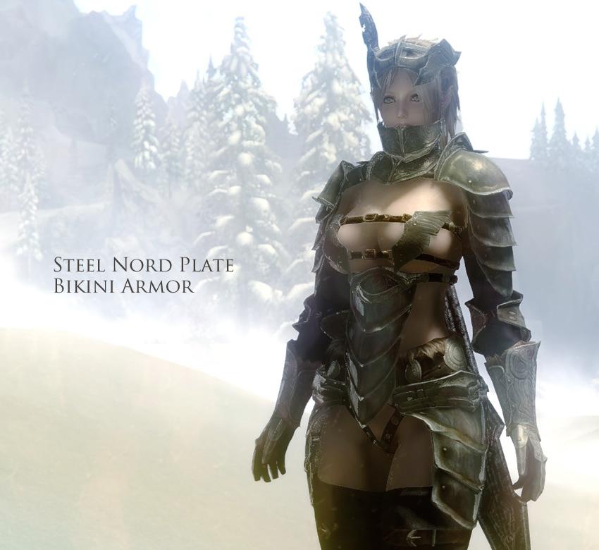 Steel Nord Plate Bikini Armor
