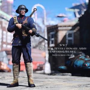 WW2 National Revolutionary Army Uniform&Helmet