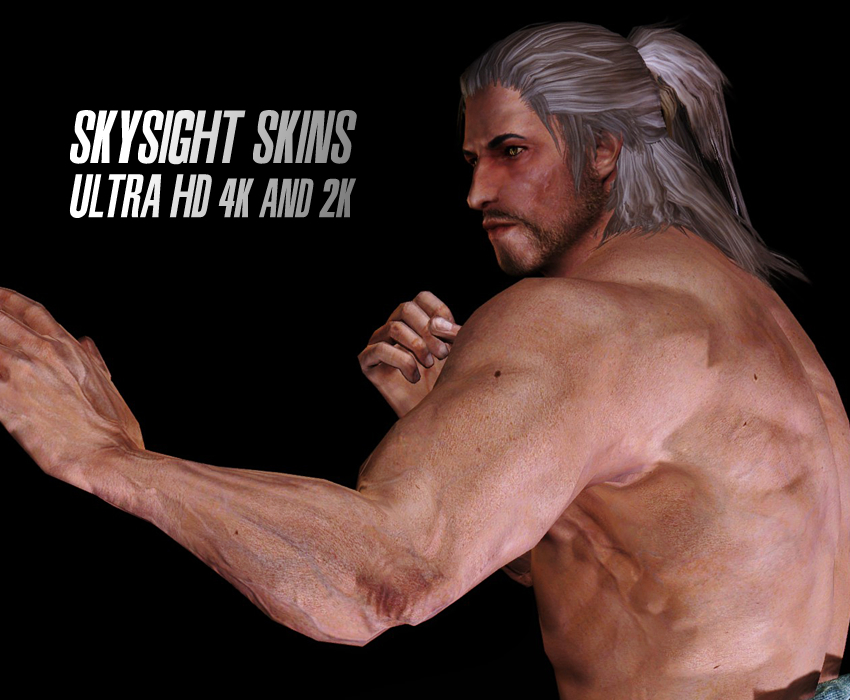 SkySight Skins – Ultra HD 4K and 2K – Male Textures and Real Feet Meshes
