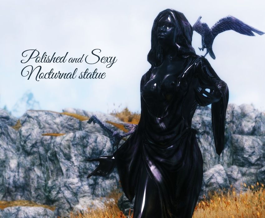 Polished and Sexy nocturnal statue