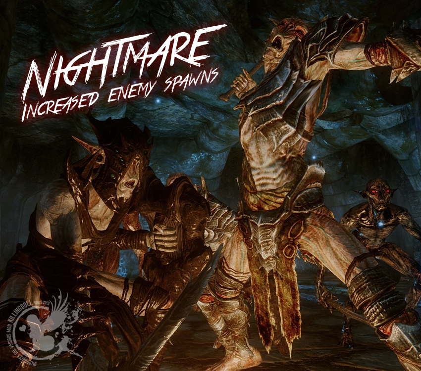 Nightmare – Increased enemy spawns
