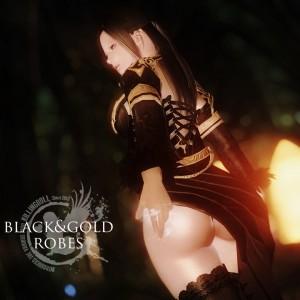 UNPK black and gold robes