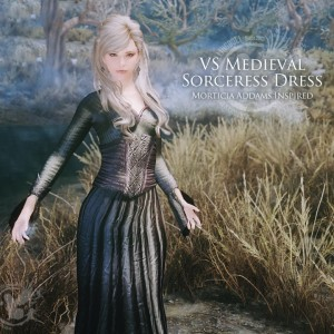 VS Medieval Sorceress Dress – Morticia Addams Inspired