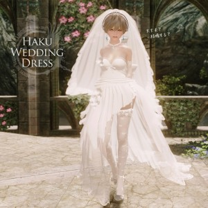 Haku Wedding Dress – UNP – From MMD to Skyrim