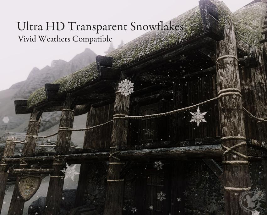 Ultra HD Transparent Snowflakes – Vivid Weathers Compatible