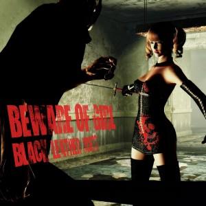 BEWARE OF GIRL Black Leather Dress