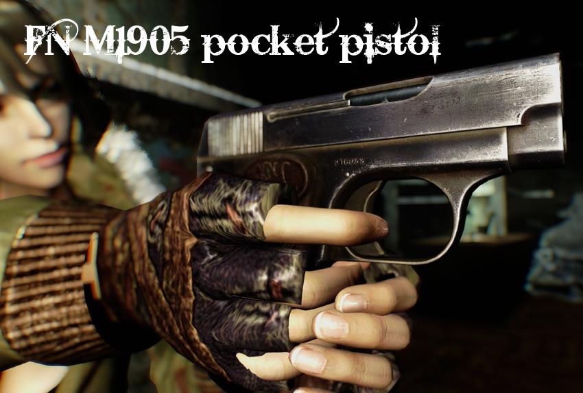 FN M1905 pocket pistol