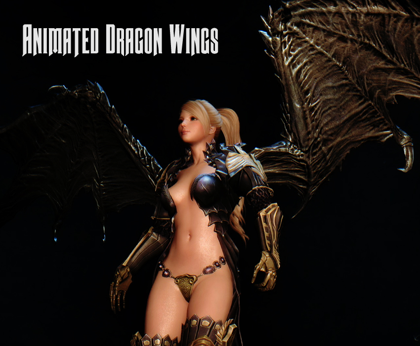 Animated Dragon Wings
