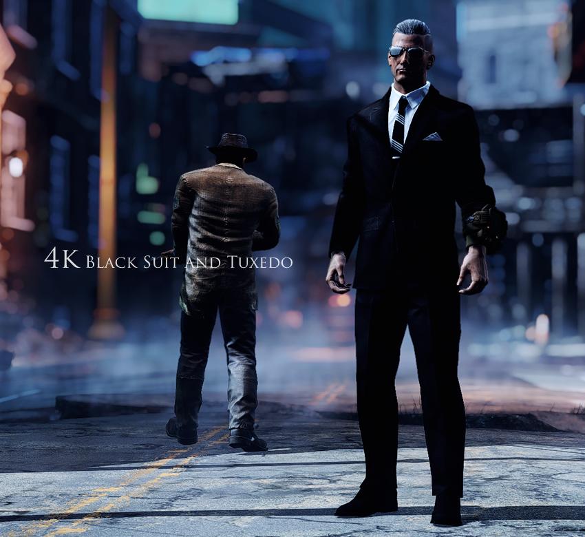 4k Black Suit and Tuxedo