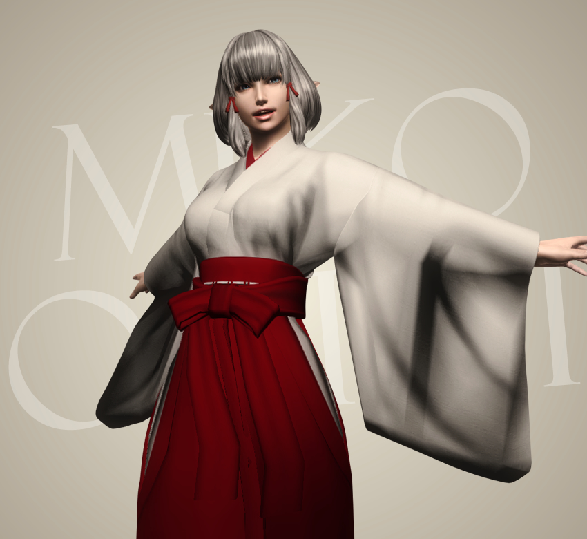 Miko outfit for HGEC and RobertMaleBodyReplacer