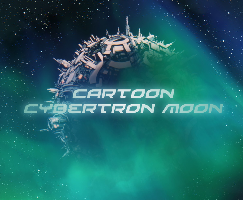 Cartoon cybertron moon