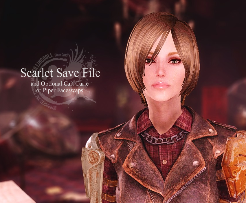 Scarlet Save File and Optional Cait Curie or Piper Faceswaps