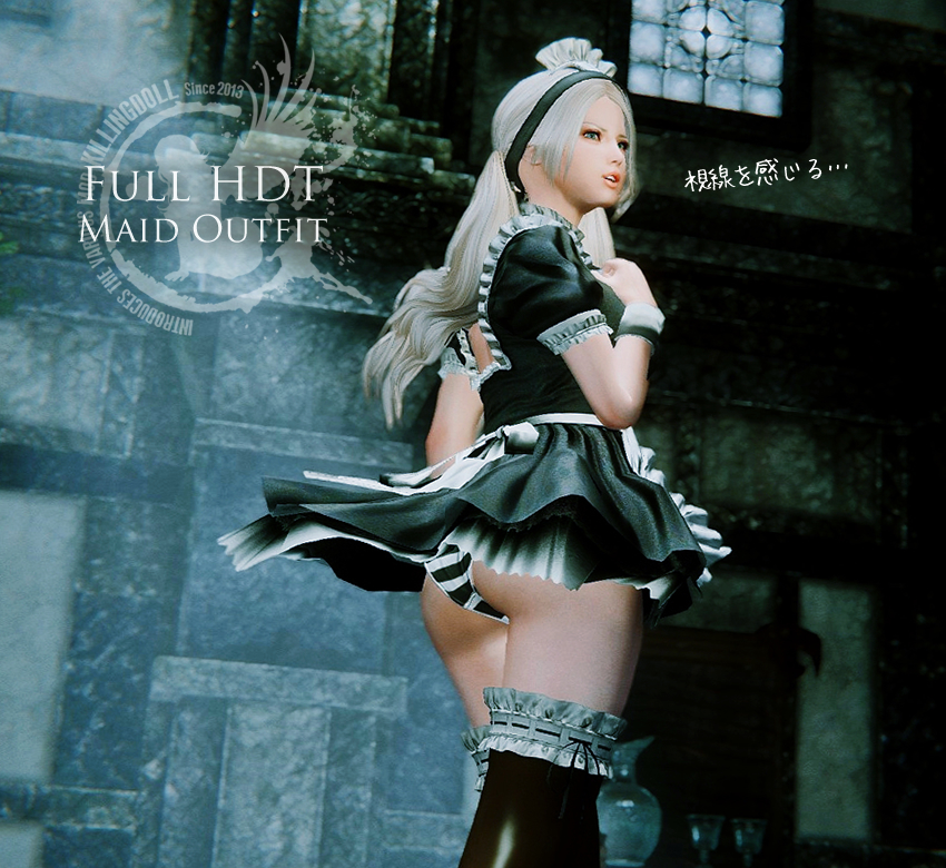CBBE HDT – UUNP HDT Bodyslide for Full HDT Maid Outfit with Cleavage