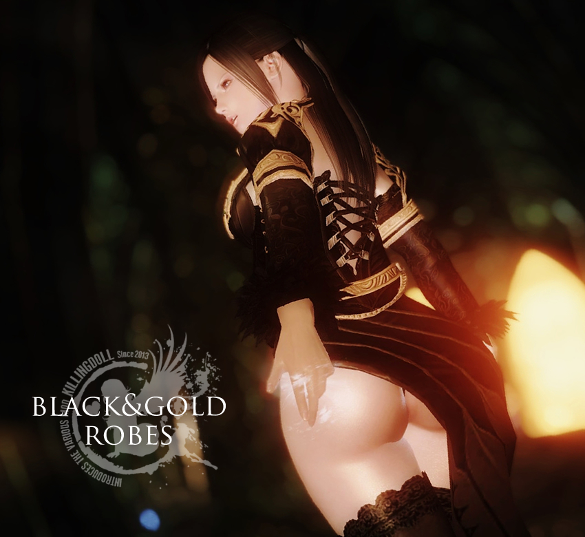 UNPK black and gold robes