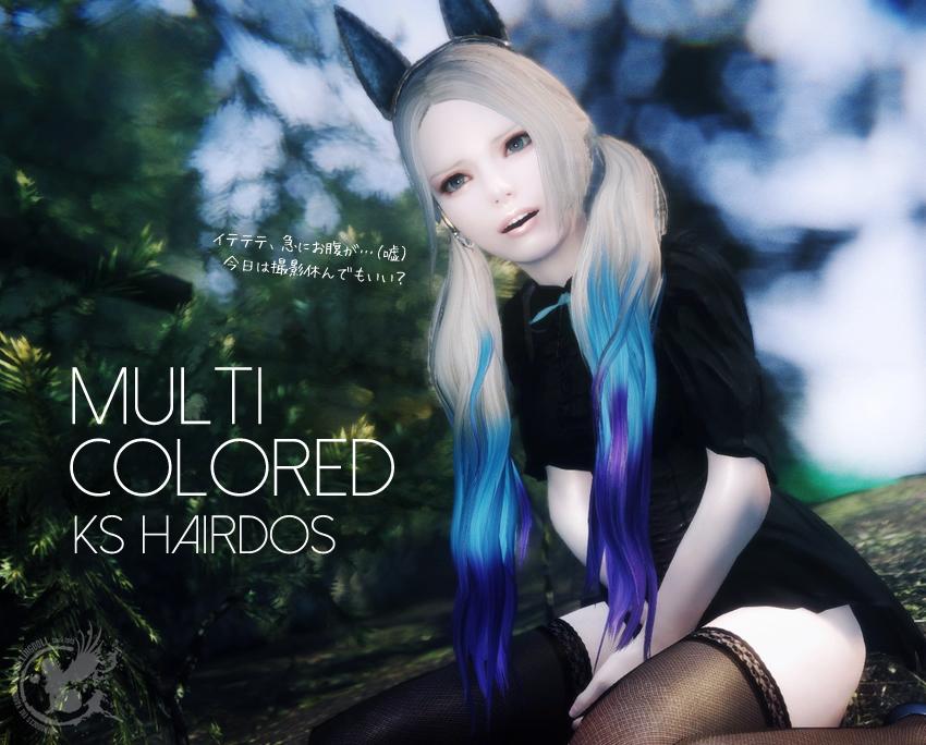 Multi Colored KS Hairdos