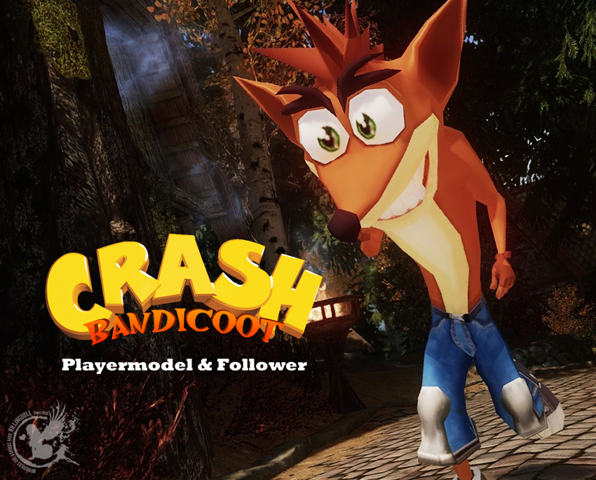 Crash Bandicoot Playermodel and Follower