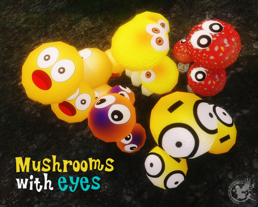 Mushrooms with eyes