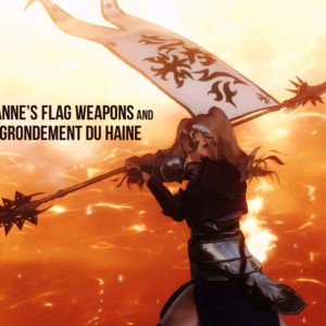 Jeanne's flag weapons and -La Grondement du Haine-